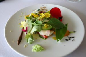 The Gargouillou by Michel Bras, is a typical example of the Franco-Japanese fusion in the art of plating.